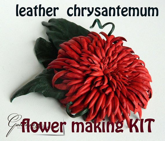 27 best images about how to make leather flowers on for Leather flowers for crafts
