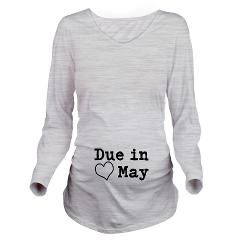 Due In May Long Sleeve Maternity T-Shirt > Due in May > Fun Clothes For Family