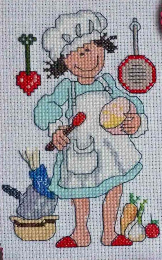 Cross Stitch - Leaving gift for my Slimming World Consultant - stitched September 2012