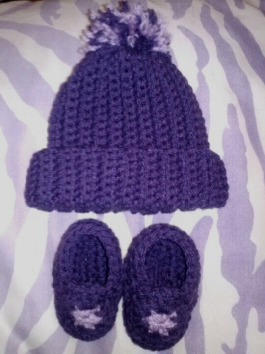 Dark an light purple newborn set..$8 for complete set