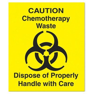 """#manythings #Ensure proper disposal of waste with this #Rubbermaid FGCD1 """"Chemotherapy Waste"""" Caution Decal. Measuring 6-inches square and featuring easy-to-read ..."""