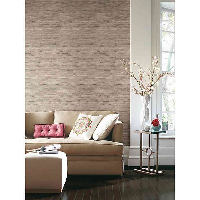 Roommates Peel Stick Grasscloth Wallpaper In Tan In 2020 Peel And Stick Wallpaper Decor Grasscloth
