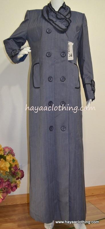 Hayaa Clothing - ASMA Ruffle Collar Jilbab (http://www.hayaaclothing.com/asma-ruffle-collar-jilbab-dark-purplish-blue/)