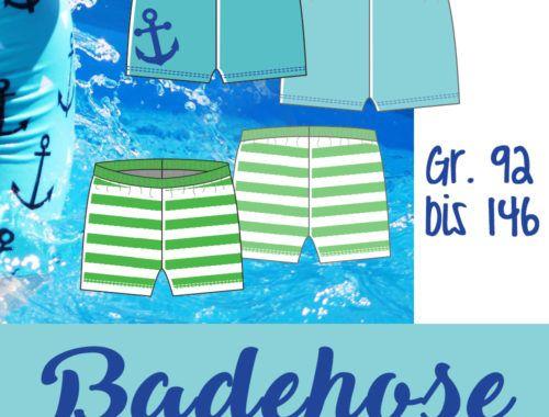 Badehose Anleitung und Schnittmuster für Jungs