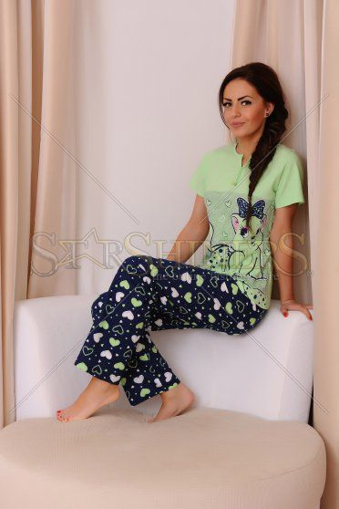 Pijama Adorable Night Green