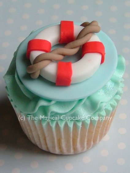 Nautical cupcakes - http://www.themagicalcupcakecompany.co.uk/cupcakes.html#
