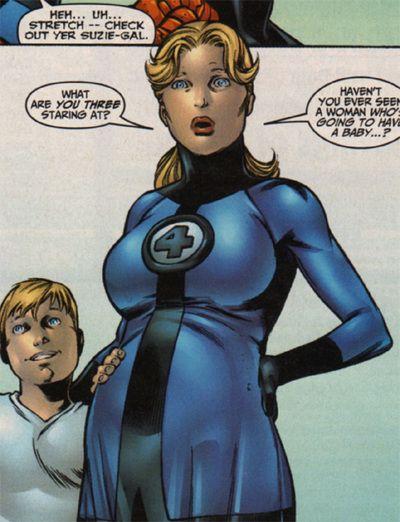 Sue Stormrichards - Pregnant Superhero  Comic Book -1205