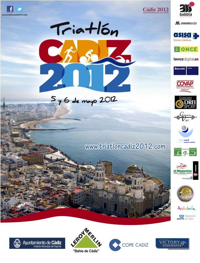 Cartel Triatlon Cadiz 2012