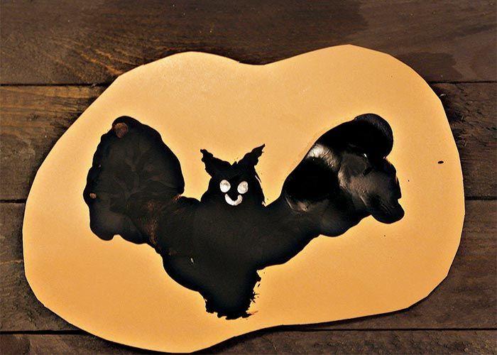 Halloween Footprint Art