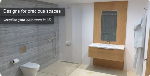 Designs for precious spaces: Visualise your bathroom in 3D