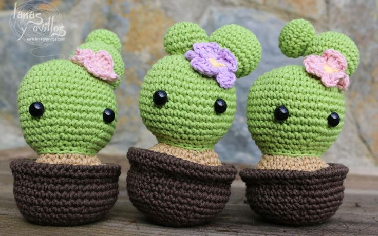 cactus amigurumi free crochet pattern with video tutorial ...