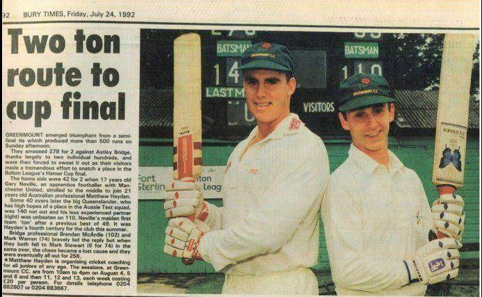 Gary Neville: Promising cricketer turned football legend