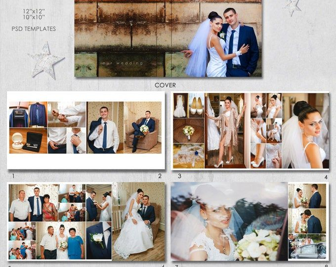 12x12 10x10 Inches Psd 40 Pages Wedding Album Etsy In 2020 Wedding Album Wedding Album Templates Album Photography