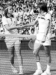John McEnroe and Jimmy Connors played the most exciting tennis ever seen to my mind, always got a sore throat when these two amazing players were on court! I loved it when He slammed or broke his racket on the court :)