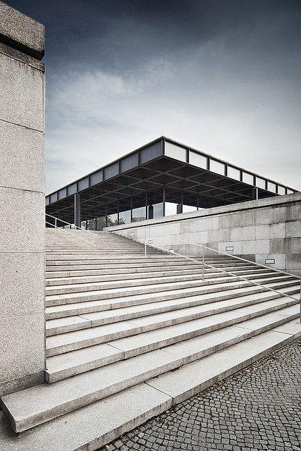 National Gallery/ Neue Nationalgalerie Kulturforum/ Museum for Modern Art. Berlin. Ludwig Mies van der Rohe 1968.