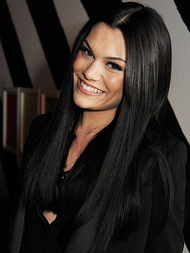 Jessie J, long, black hair, hairstyle, lashes, smile, pose, beautiful.