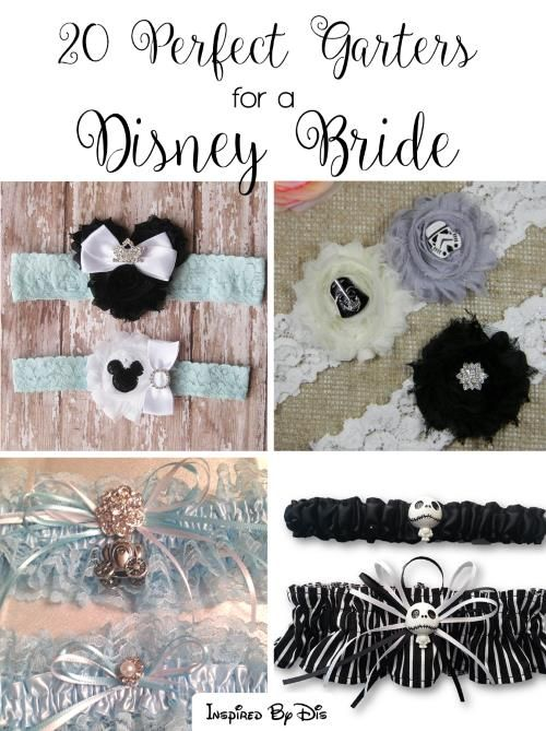 20 Perfect Garters for a Disney Bride.  Don't forget fairy tale personalized napkins for the big day! #Disney #wedding www.napkinspersonalized.com