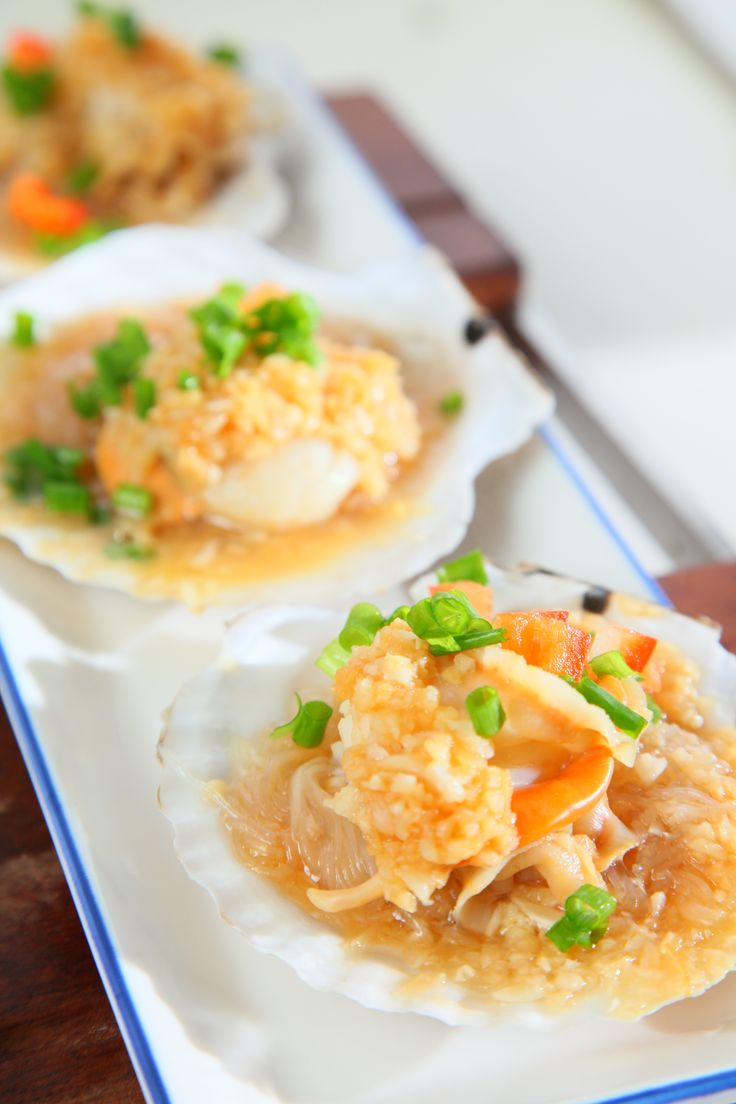 Steamed Scallops with Vermicelli (How to Cook Scallops ...