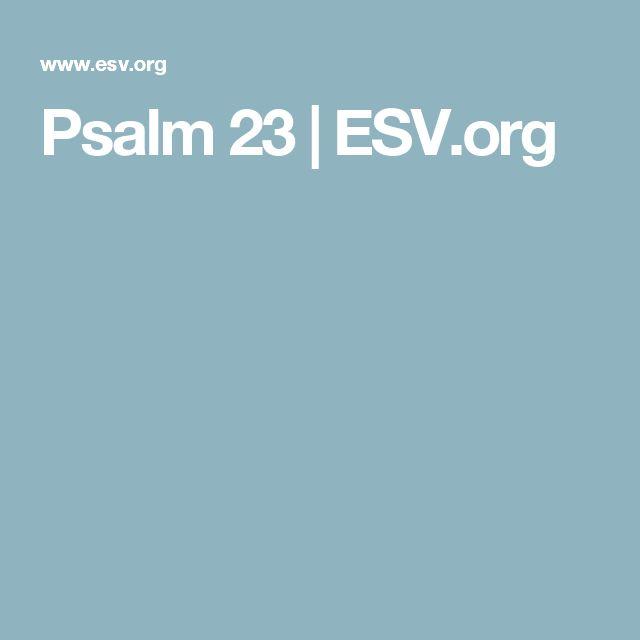 Psalm 23 | ESV.org