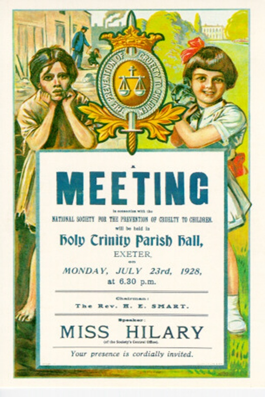 NSPCC poster from 1928 for a local meeting.