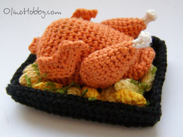 "Crochet food | crochet food ""turkey"" (I don't know how to crochet....)"