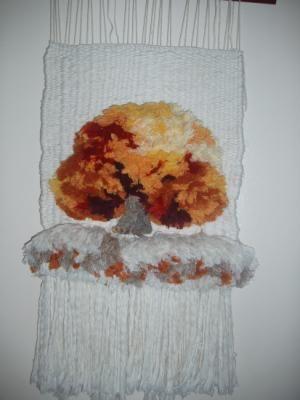 telar de alto lizo tapiz algodones,sedas telar de alto lizo