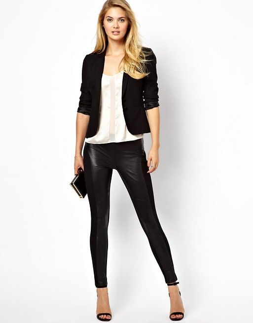 Ted Baker   Ted Baker Leggings with Contrast Leather Panels
