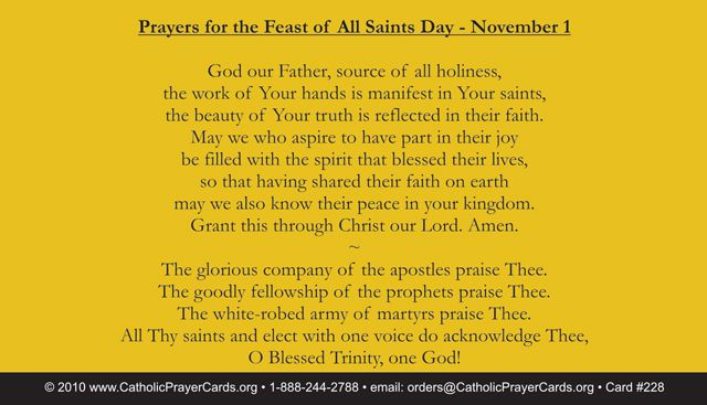 Prayer for All Saints Day