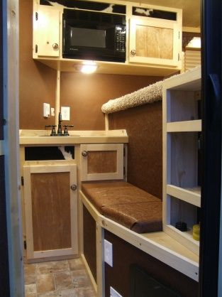Look What Can Be Done With A Short Wall. Find This Pin And More On Horse  Trailer Living Quarters Ideas ...