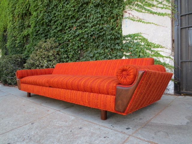swanky furniture. swanky orange mcm sofa furniture k