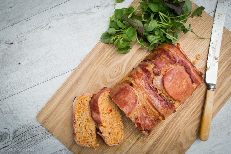 Chicken, Bacon and Vegetable Meatloaf - a really quick, easy to make and healthy dinner for the whole family. It's also grain, gluten, dairy and nut-free.