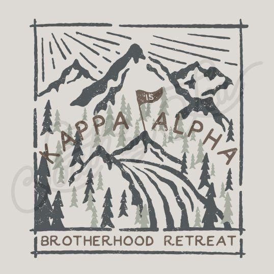 Fraternity Social Kappa Alpha Order Mountain Retreat Trees Flag South By Sea