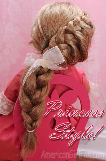 Doll Hairstyle: A Princess Braid! - http://www.americangirlfan.com/2014/01/doll-hairstyle-a-princess-braid.html