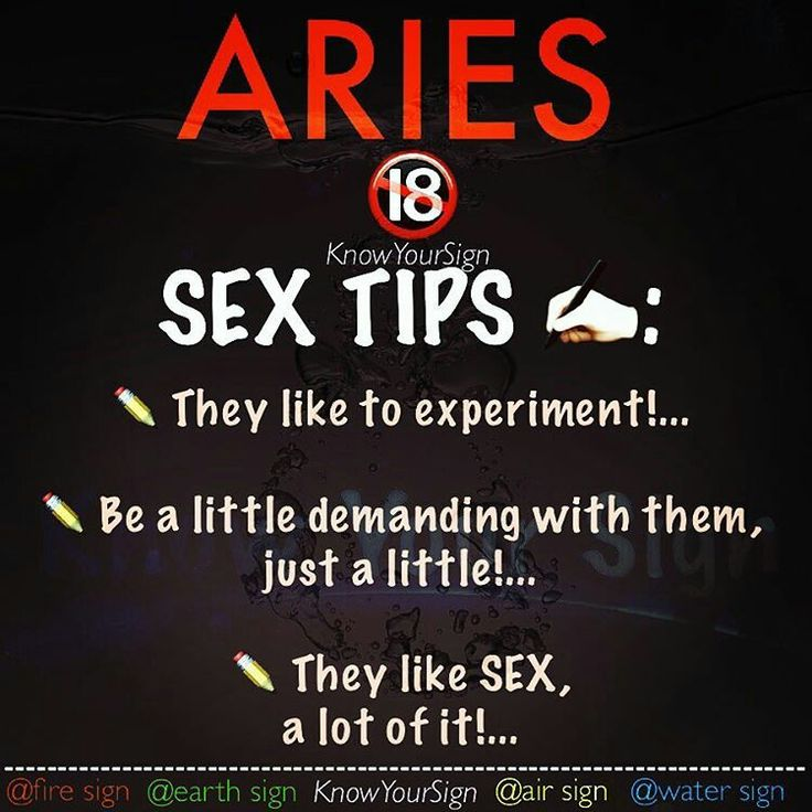 Sex tips for aries man