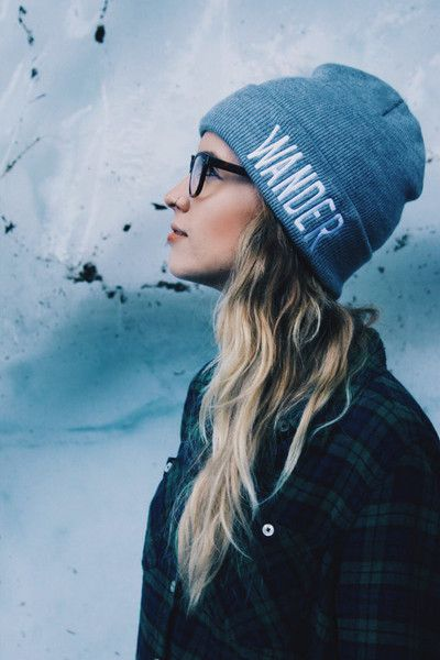 Wander in the mountains (or just around the house) in this soft acrylic beanie with a cuffed edge; perfect for chilly weather or bad hair days. Gray with white embroidery. Made in the USA and embroide