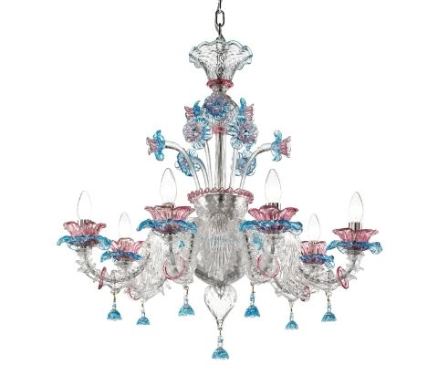 small glass chandelier from Murano for fun, and to remember Venice by