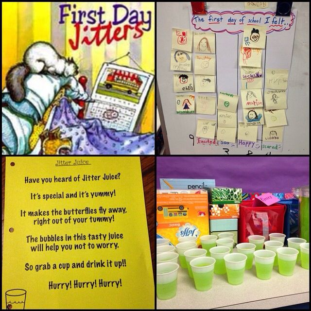 Book: First Day Jitters Snack: Jitter Juice. Do students feel better after their Jitter Juice?