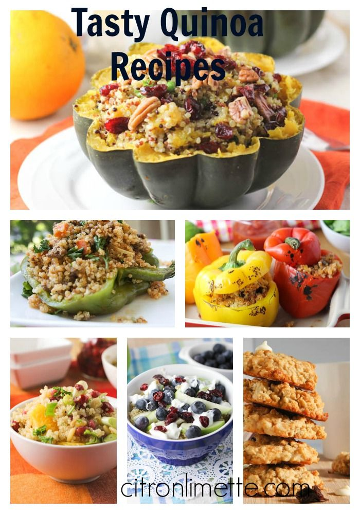 Tasty Quinoa Recipes! If you haven't yet become a quinoa fan, the following recipes may soon convinced you to add the little seed in your grocery lists each week....