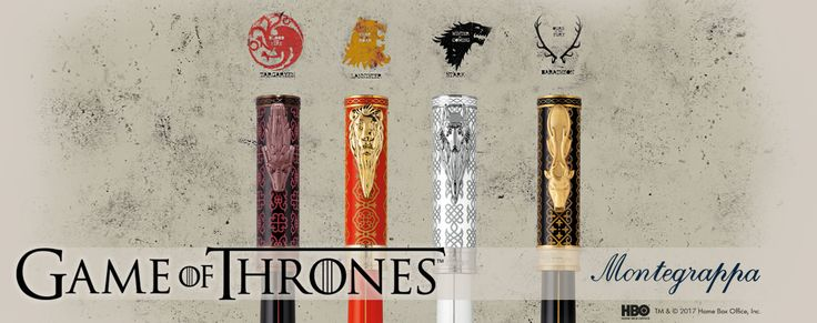 Game of Thrones pens from Montegrappa at the Pen Shop