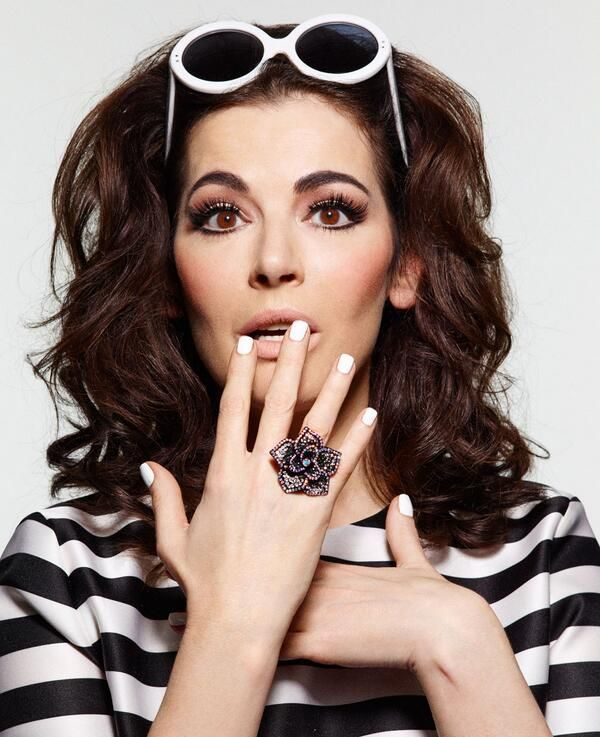 Nigella Lawson's fashion ring looks a lot like our Convertible Ring!