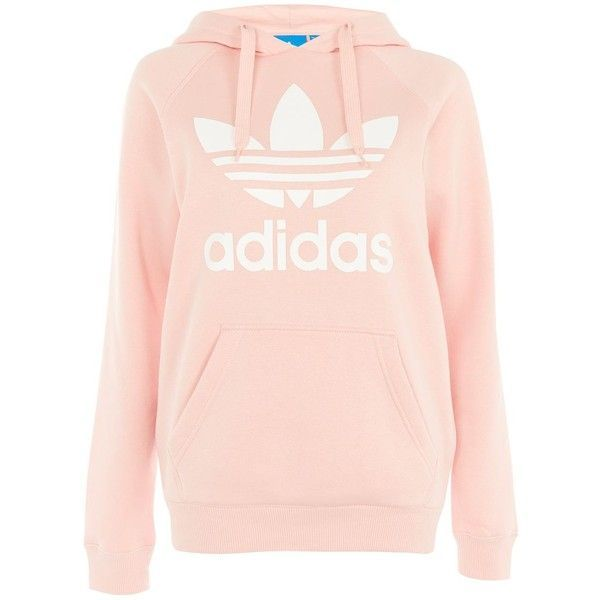 Trefoil Hoodie by Adidas Originals ($100) liked on Polyvore