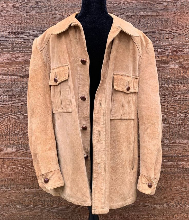 L.L. BEAN Freeport, ME Vintage 1960s Tan Suede Leather