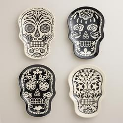 Set of 4 Muertos Plates