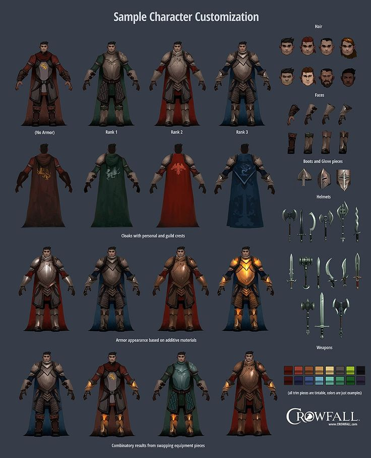 Crowfall game, character & gear customization. You can find more on https://crowfall.com/ #Crowfall #gaming #MMO #RPG #PvP #MMORPG #multiplayer #online #games #game #PC #armor #knight #gear