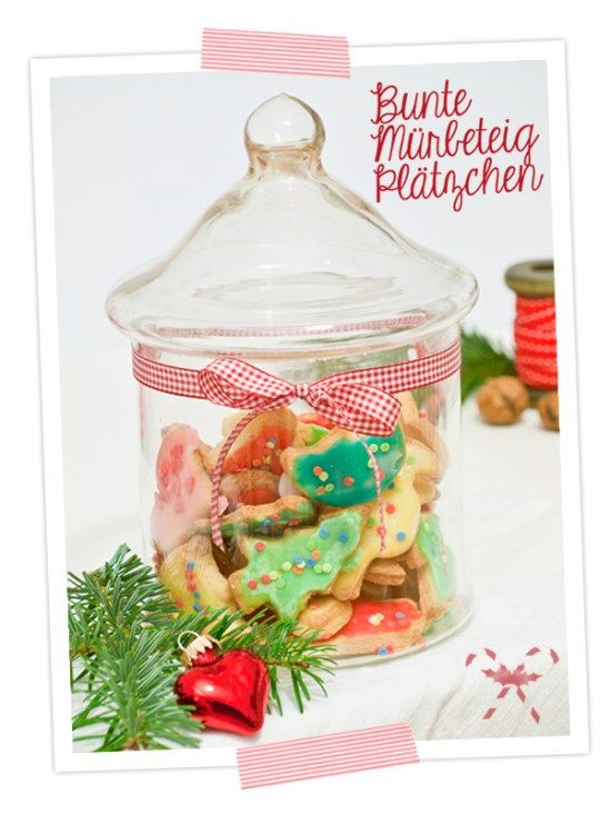 Rezept für bunte Mürbeteigplätzchen - cozy &cuddly Adventskalender