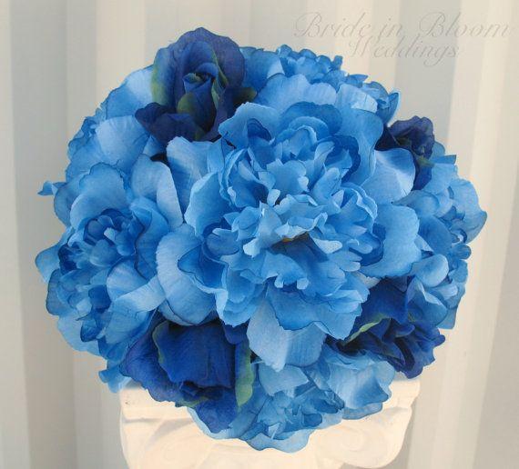 Blue Peony Wedding Bouquet dawninvitescontest Dream Board Contest Pinterest