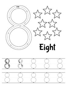 New tracing worksheet: Number 8. // Nueva ficha de trazo: Número 8…                                                                                                                                                                                 More