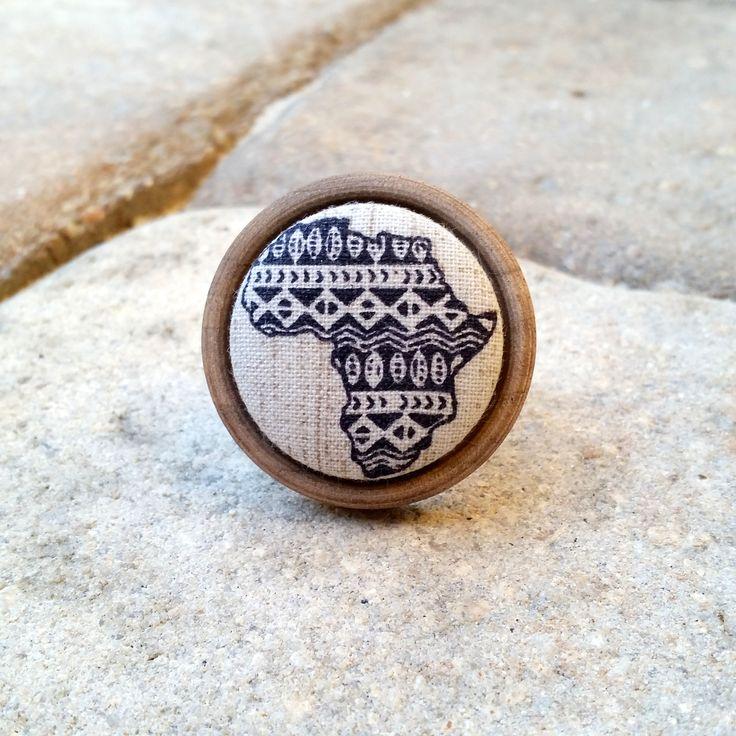 Abyssinia ~~ Tribal Africa Oak Wood Ring