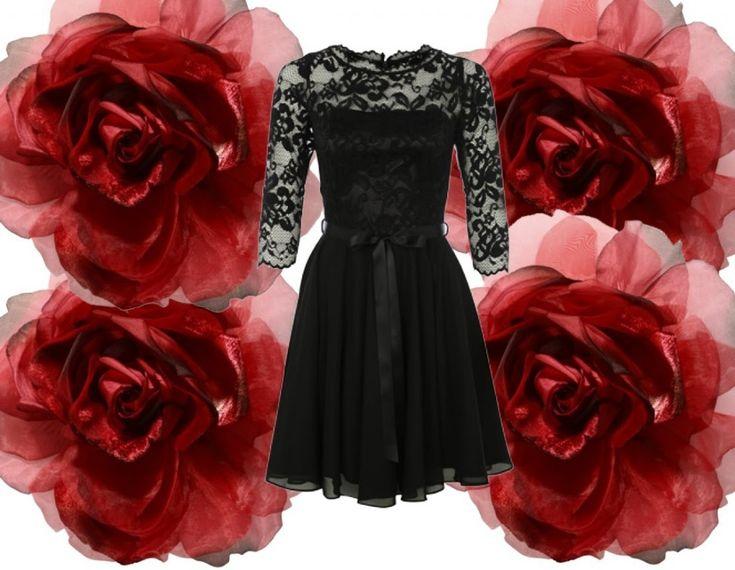 Dia de los Muertos Outfit: Für die Kleidung kann man sich entweder ein Kostüm ausleihen, oder ein schwarzes Kleid mit Spitze tragen.