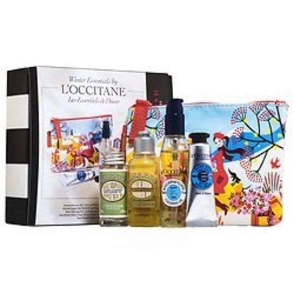 NIB - L'Occitane Sephora 2016 VIB gift set Retired 2016 - Sephora Beauty Insider Winter Essentails by L'OCCITANE (Brand NEW with box). Indulge in luxurious head-to-toe beauty—on the go. This hydrating kit contains bath and body basics, rich in almond oil and shea butter, plus a zip pouch. - L'Occitane Shea Cleansing Oil (1 oz) - L'Occitane Cleansing And Softening Shower Oil With Almond Oil (1.1 oz) - L'Occitane Almond Smoothing and Beautifying Supple Skin Oil (0.5 oz) - L'Occitane Hand…